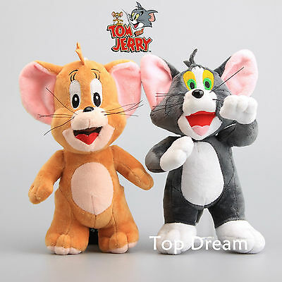 Cartoon Anime Tom and Jerry Plush Soft Toy Stuffed Cat & Mouse Doll 9'' Gift