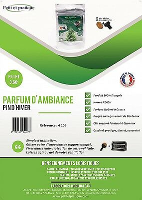 parfum voiture senteur PIN D'HIVER MADE IN FRANCE