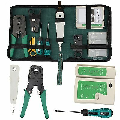 RJ45 Cat5e RJ11 Lan Network Ethernet Cable Crimping Tool Tester Crimper Stripper