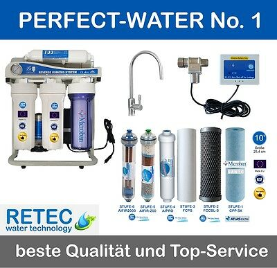 High Tech Umkehrosmoseanlage JG Sidestream 500 GPD direct-flow Wasserfilter