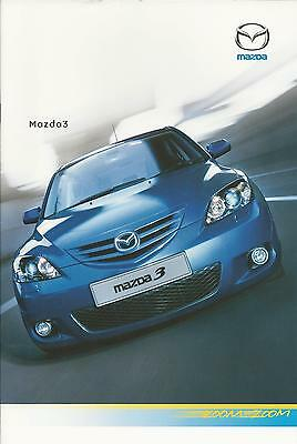 Mazda 3 UK Market Brochure May 2005 28 Pages Includes S TS TS2 Sport Models