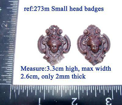 "273m ""pair head badges"" for Vienna regulator clock cases, DIY* furniture"