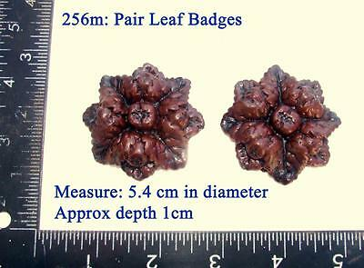 "256m ""Pair leaf badges"" for Vienna regulator clock cases, DIY* furniture"