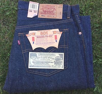 Vintage Levis 501 xx W38L34 NWT San Fran.  Shrink to fit. made in USA