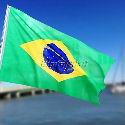 NEW Brazil National Flag Brazilian Sports Party Outdoor Hanging Banner 3x5FT