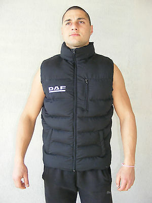 DAF Sleeveless Jacket Embroidered Logo on Front and Back size M - XXXL