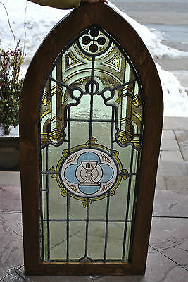 Antique Stained Glass Church Window(c1890)-Architectural Salvage-Ship Worldwide