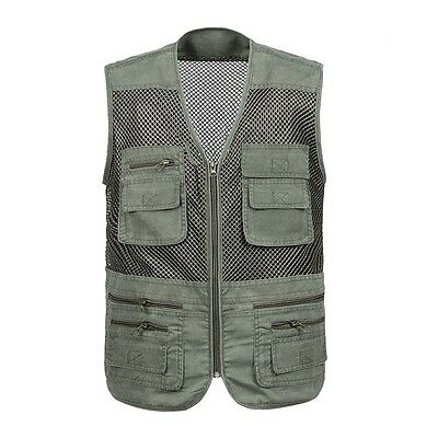 Breathable Fishing Vest Photographer Director Cool Waistcoat Fishnet Work Jacket