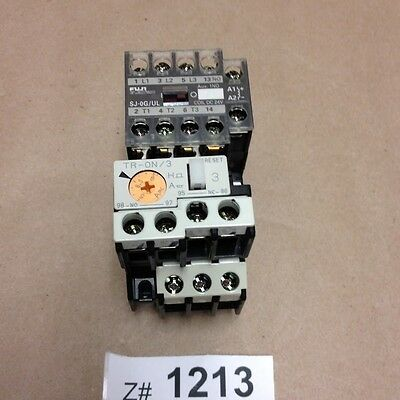 Fuji Electric SJ-0G/UL Magnetic Contactor with TR-ON/3 Thermal Overload Relay