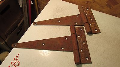 Old Iron Barn Door Hinges- 10""