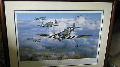 Philip West Over The Beaches Framed Limited Edition 63/350 Signed Print 2004