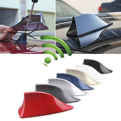 Grey Auto Shark Fin Roof Shape Antenna with Blank Radio Car Antena ABS Plastic
