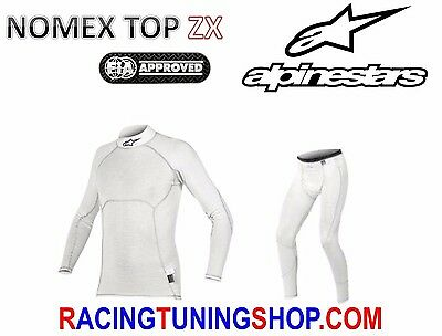 ALPINESTARS RACE UNDERWEAR FIA 8856-2000 RALLY NOMEX TOP ZX 475419 shirt+pants