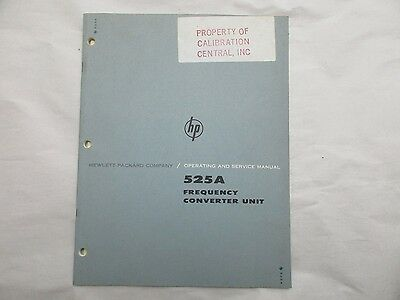 Hewlett Packard 525A Frequency Converter Unit Operating & Service Manual