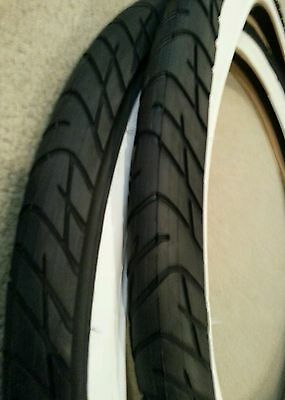 2 32-559 TWO DURO 26X1.25 BICYCLE TIRES SEMI SLICK TREAD STREET