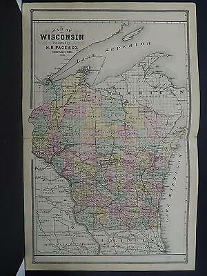 Wisconsin, Antique State Map, H.R. Page 1886 N1#20