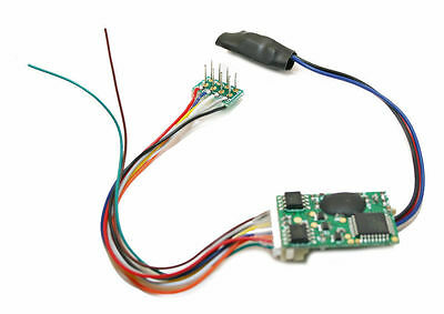MRC HO Scale DCC 16-Bit Sound Decoder Steam Sounds 8/9 Pin Harness Plug-in 1731