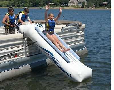NEW Rave Sports 00001 Pontoon Boat 10' Inflatable Water Slide w/ Warranty & Pump