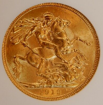 Great Britain 1912 Gold Sovereign MS62 NGC UK COIN King George