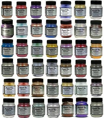 Jacquard Pearl Ex Mica/Metallic Pigments - 48 Large Jars + Free Book & New Color