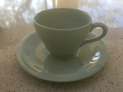 Set of 5 - Antique Spode Flemish Green Cup & Saucers - mint condition
