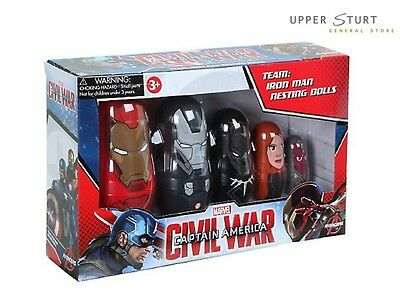 Captain America 3: Civil War. Nesting Dolls.Team Iron Man. FAST 'N FREE DELIVERY