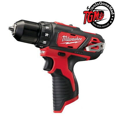 "Au Model Milwaukee12V M12BDD-0 10mm 3/8"" Drill Driver Skin Only Not USA Import"
