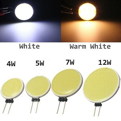 5*Dimmable G4 COB 3W 6W LED DC 12V Bulb Cabinet Light Crystal Lamp Smart IC