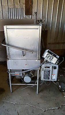 Hobart AM-14C AM14 Natural Gas Commercial Corner Tall Upright Dishwasher 3 Phase