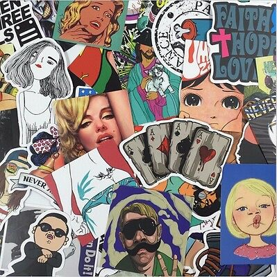 600pcs /lot Sticker Bomb Decal Vinyl Roll Car Skate Skateboard Laptop Luggage