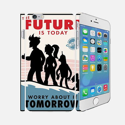 F012 Futurama - Apple iPhone 4 5 6 Hardshell Back Cover Case