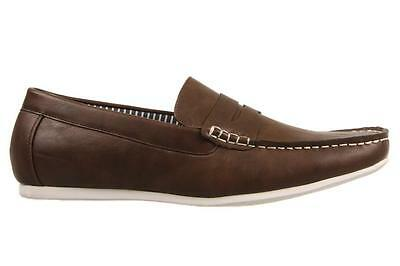 Uncut Mens Senna Brown Slip On Boat Shoe