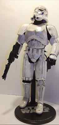 "1 SIDESHOW STAR WARSstand+1/6 scale created figure (12""STAR WARS STORMTROOPER)"