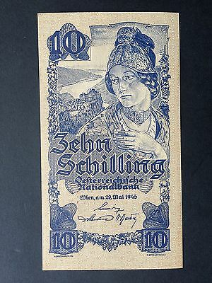 Austria 10 Schilling P114 Dated 29th May 1945 Uncirculated UNC