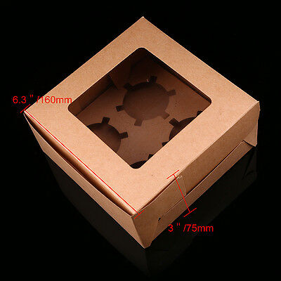 Bakeware Paper Package Hole Muffin Cupcake Wedding Bun Carboard Tray Box Holder