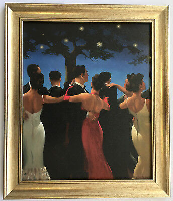 Waltzers by Jack Vettriano Framed Canvas Effect Print 51cm x 44cm Dancers