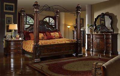 Mcferran RB6003 Tuscan Leather Eastern King Size Bedroom set 5.pc Traditional