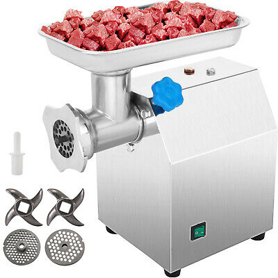 Meat Grinder Electric Commercial Mincer Sausage Filler Maker #12 4.5Lbs/Min 220V