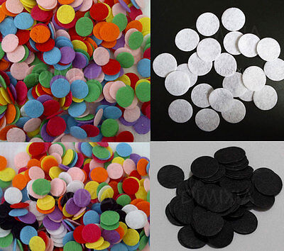 10mm Mixed Colour Black White Round Circle Padded Felt Craft Patch 1cm DIY Pad