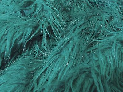 Super Luxury Faux Fur Fabric Material - SHAGGY TEAL