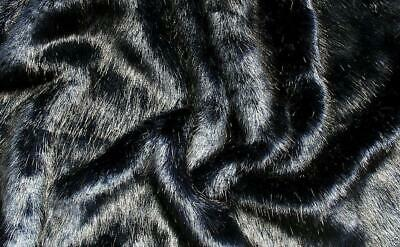 Super Luxury Faux Fur Fabric Material - SWISS NAVY