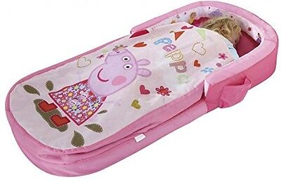 Kids Camping Travel Ready Bed Peppa Pig Toddler Airbed Sleeping Bag LayDown Rest