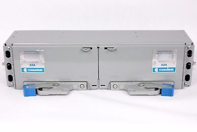 Commander QSF2236  Twin Fusible Switch QSF, 60A/60A, 600V, Switch Board Insert