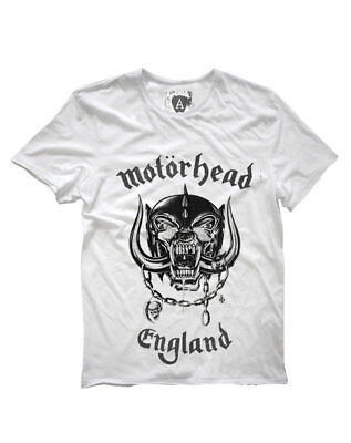 Motorhead 'England' T-Shirt (White) - Amplified Clothing - NEW & OFFICIAL!