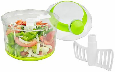 Brieftons QuickPull Food Chopper: Large 4-Cup Powerful Manual Hand Held Chopp...