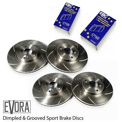 Leon FR TDI (170) Front and Rear Dimpled Grooved Brake Discs & EBC Ultimax Pads