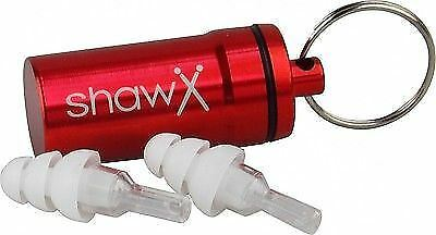 Shaw ER20 Hearing Protection Musicians Pro Ear Plugs With Aluminium Carry Case