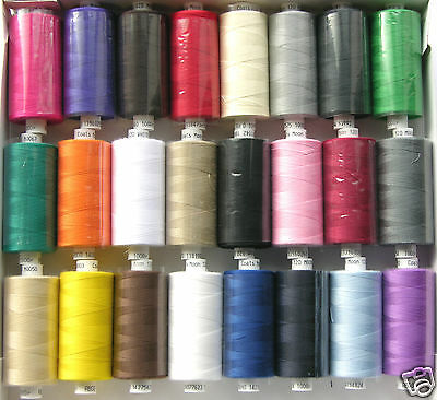 MOON ASSORTED COLOUR POLYESTER SEWING THREADS COTTON 120s