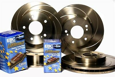 Civic MB6 1.8 Vti Front Rear Swirl Grooved Evora Brake Discs EBC Ultimax Pads