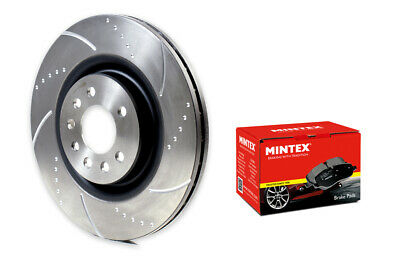 Ford Focus 2.5 ST ST225 Front Evora Dimpled Grooved Brake Discs Brembo Pads